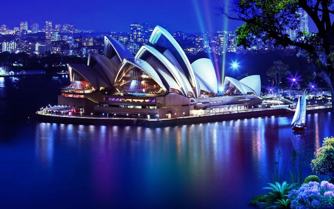 Sydney-Opera-House-at-Night-Australia-City