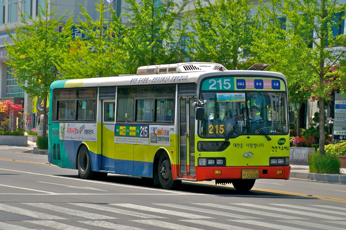 City bus in Daejeon